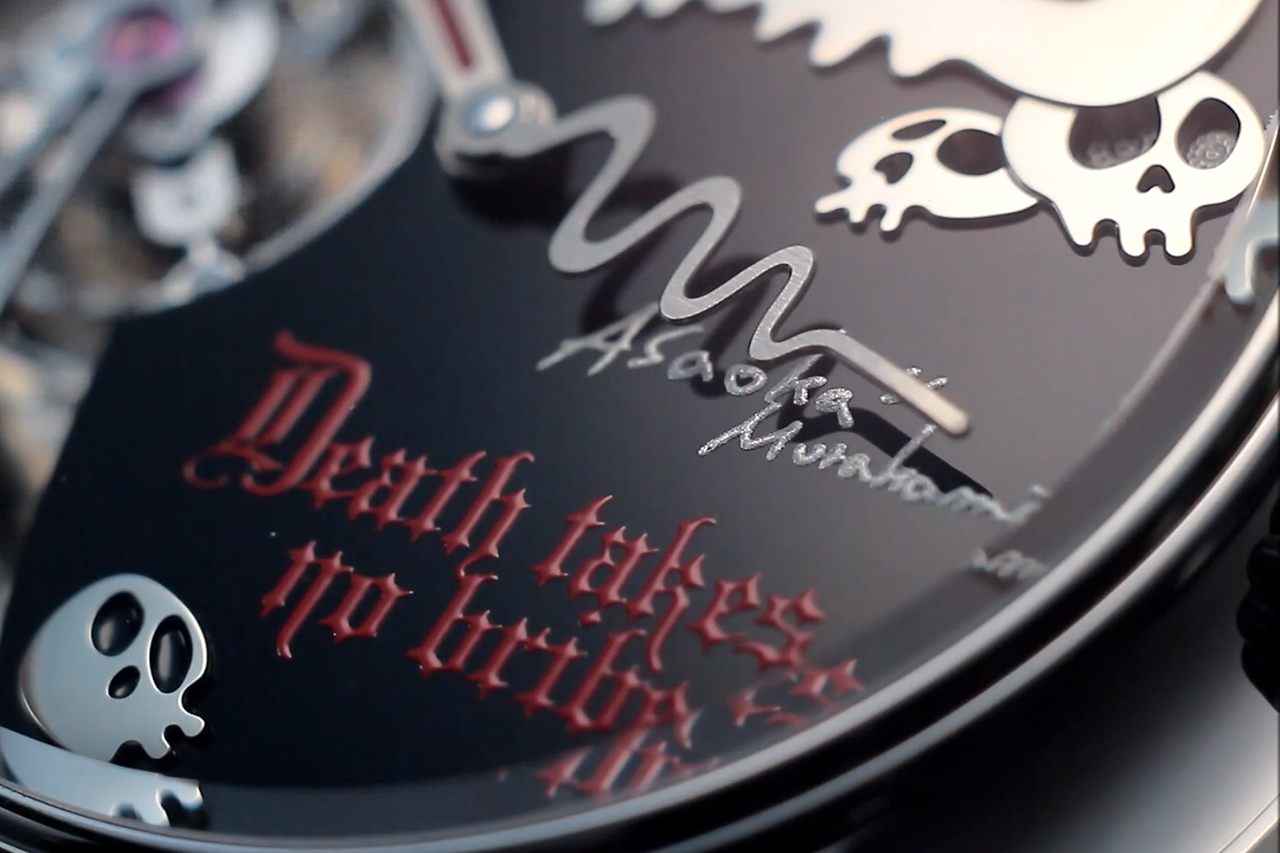 "Image of Takashi Murakami x Hajime Asaoka ""Death Takes No Bribe"" Tourbillon Watch"