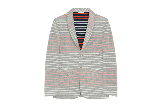 Image of Thom Browne Border Pile Jacket