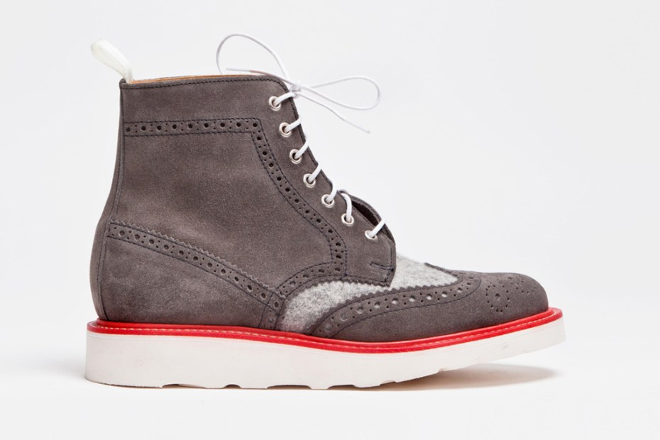 Image of Trés Bien x Mark McNairy Wool & Suede Brogue Boots