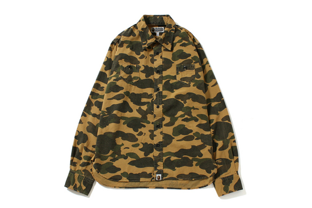 Image of A Bathing Ape 1ST CAMO CHAMBRAY SHIRT