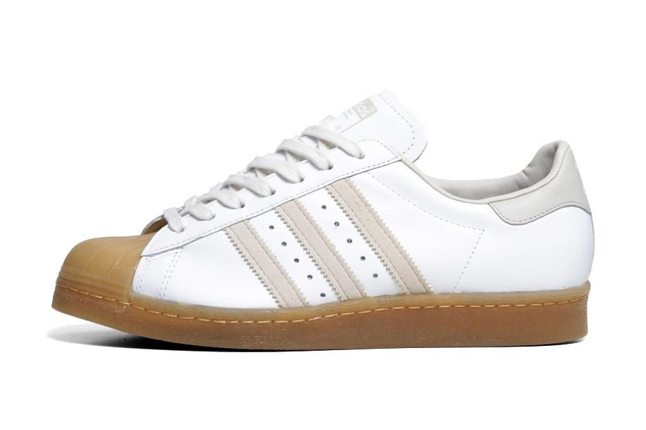 Image of adidas Originals 2013 Spring Superstar 80s White/Gum
