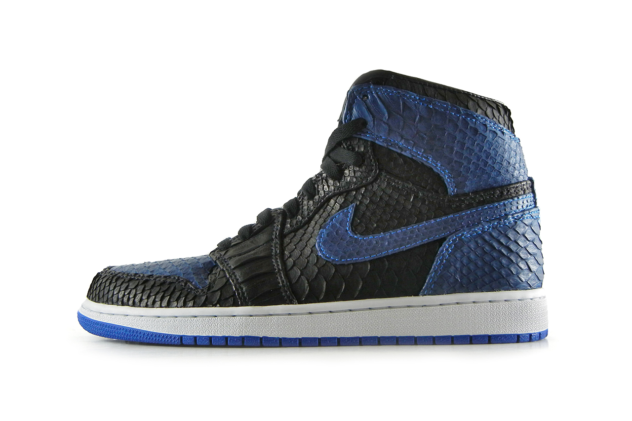 "Image of Air Jordan 1 Black/Royal ""Python"" by JBF"