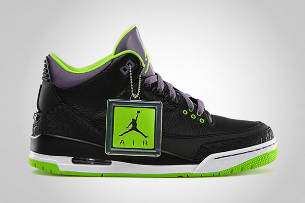 Image of Air Jordan III Black/Electric Green