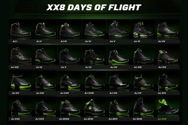 "Image of Air Jordan ""XX8 Days of Flight"" Collection"