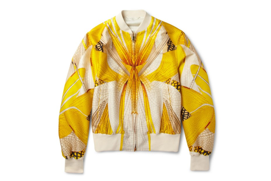 Image of Alexander McQueen Dragonfly-Print Bomber