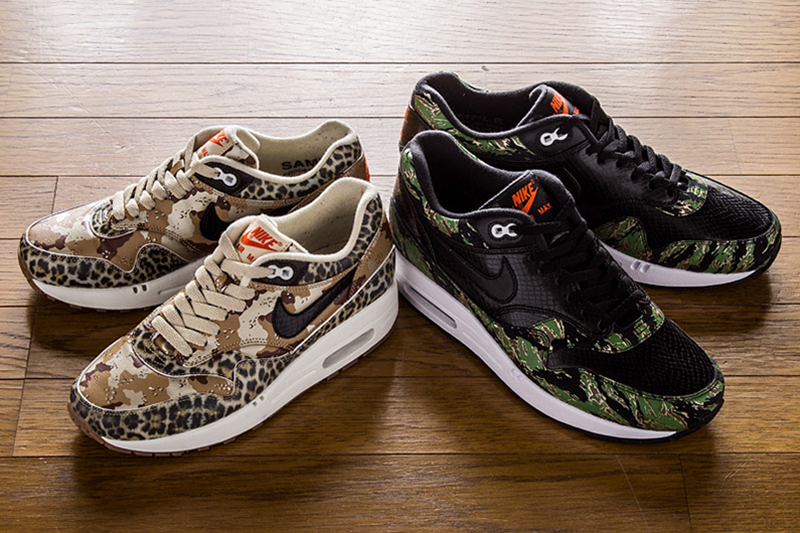 Image of atmos x Nike Air Max 1 Animal Camo Pack