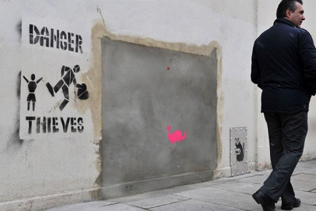Image of Auction House to Withdraw Banksy Mural From Sale