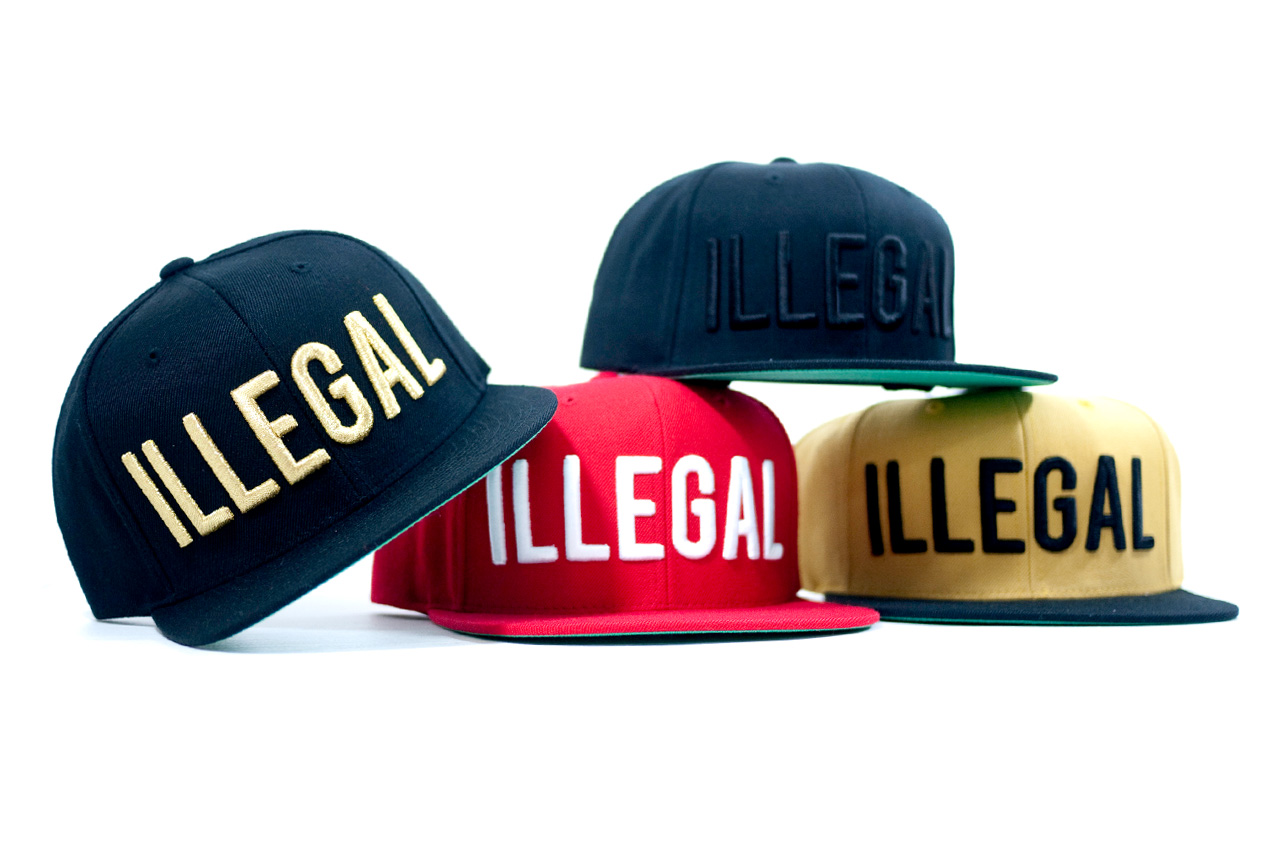 """Image of Black Scale x Fool's Gold """"Illegal"""" Snapbacks"""