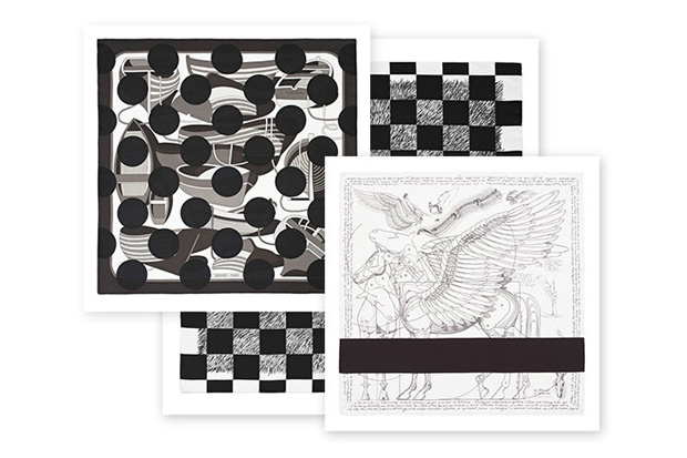 "Image of COMME des GARCONS x Hermes ""Comme des Carres"" Black and White Collection"