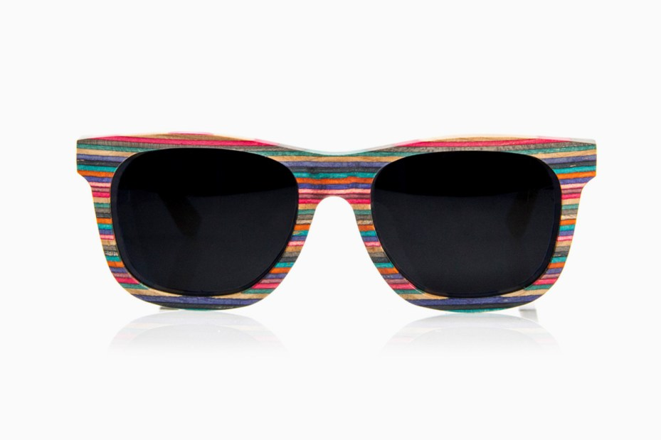 Image of Diamond Supply Co. Brilliantly Crafted 100% Recycled Skateboard Wood Sunglasses & iPhone 5 Case