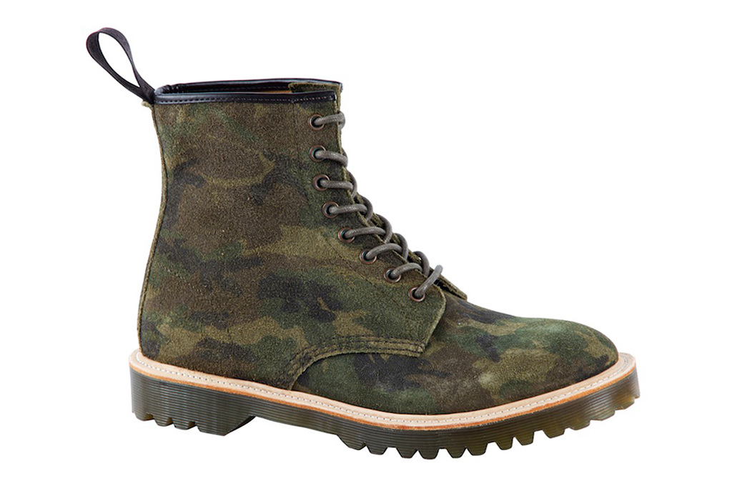 Image of Dr. Martens 2013 Fall Core Premium 1460 Green Camo Suede Boot