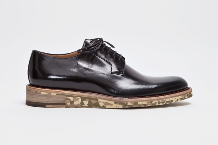 Image of Dries Van Noten Derby Shoe Black/Camouflage
