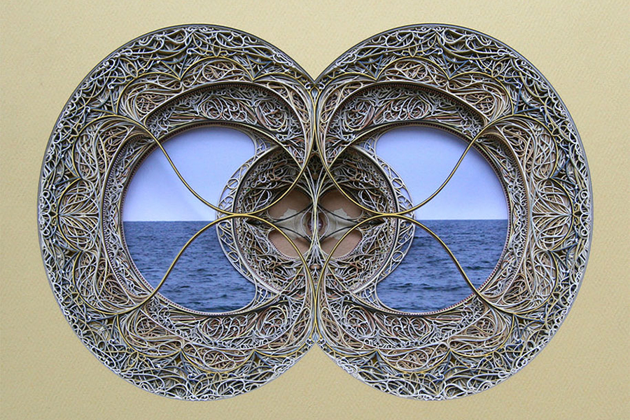 Image of Eric Standley's Laser-Cut Paper Stained Glass Windows