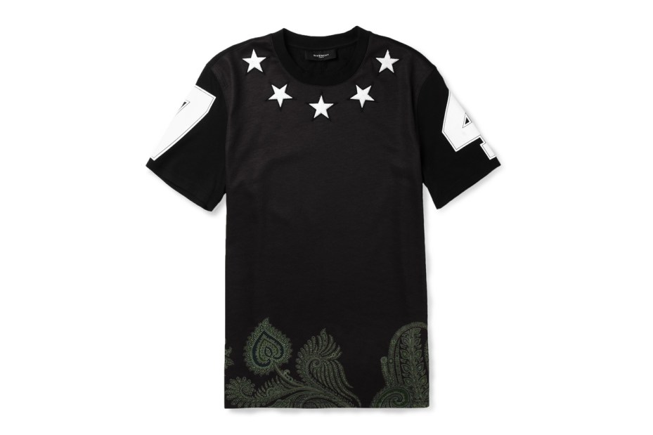 Image of Givenchy Star-Embellished Printed Cotton T-Shirt