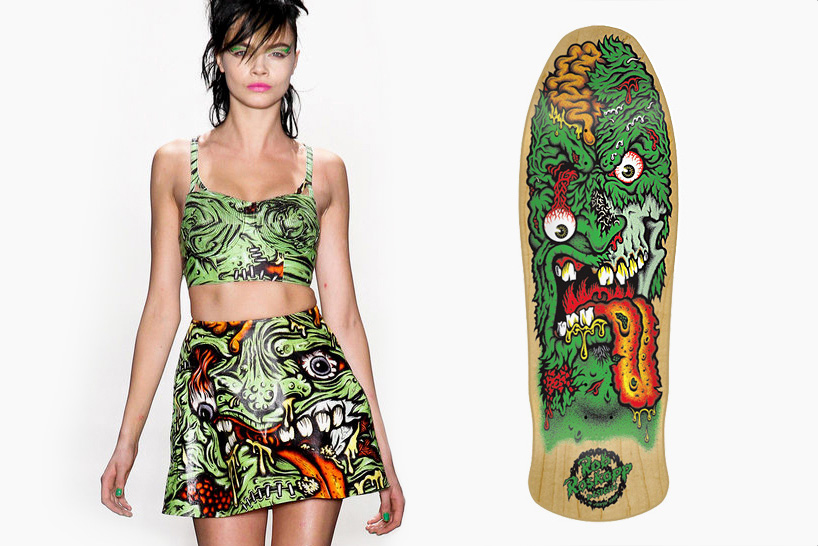 Image of Is Jeremy Scott Using Graphics from Jim Phillips?