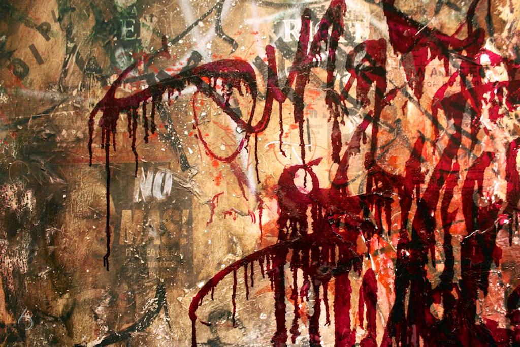 "Image of José Parlá ""Broken Language"" Exhibition @ Haunch of Venison Recap"