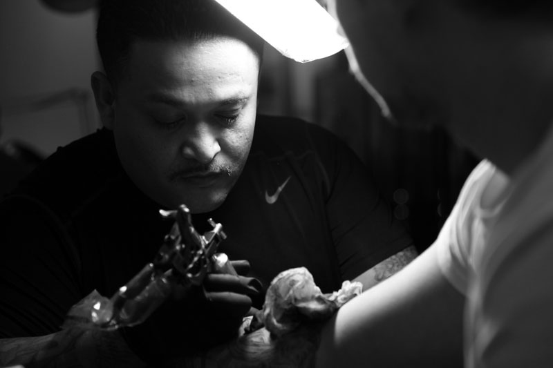 Image of Jun Cha and Jose Lopez London Pop-Up Lowrider Tattoo Studio Recap