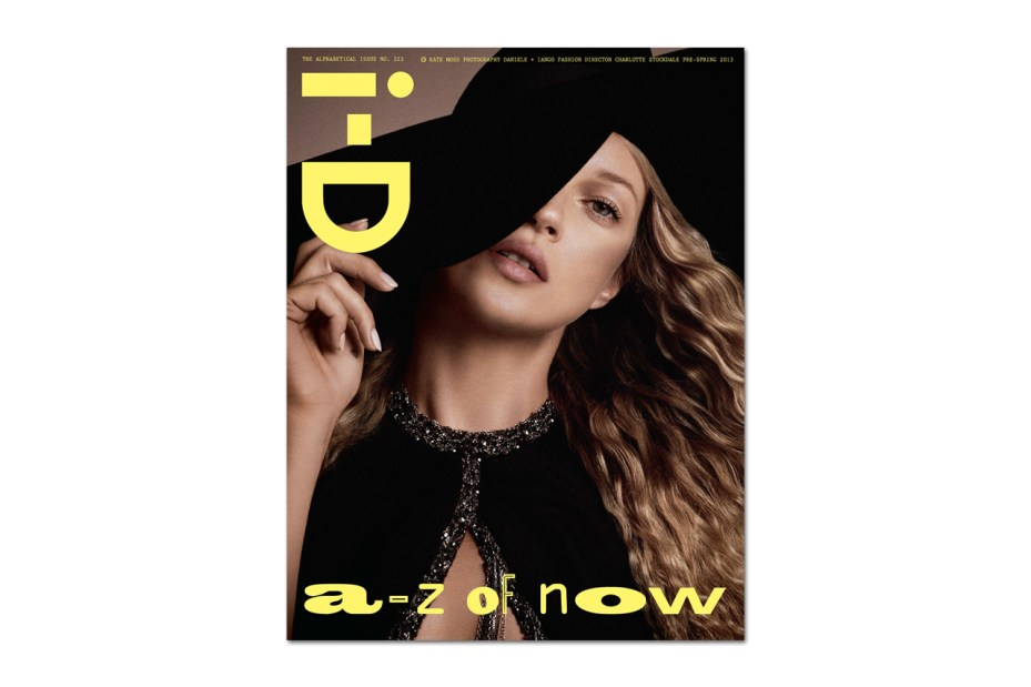 "Image of Kate Moss Covers i-D Magazine's 2013 Pre-Spring ""Alphabetical"" Issue"