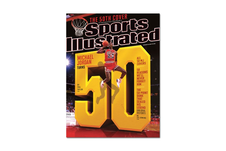 Image of Michael Jordan Covers Sports Illustrated for the 50th Time