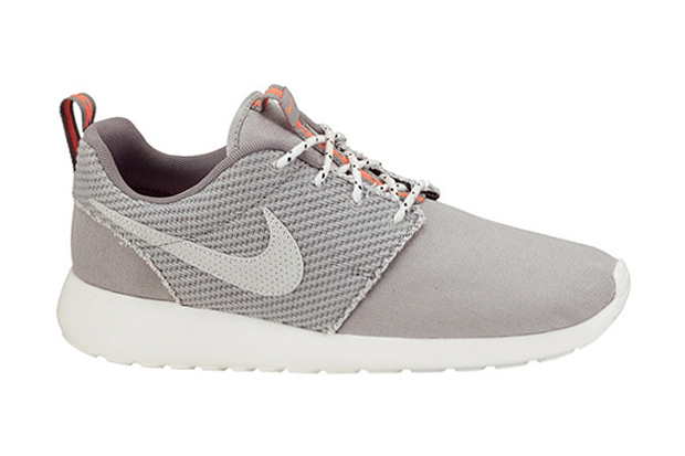 Image of Nike Roshe Run Canvas Grey/Total Crimson