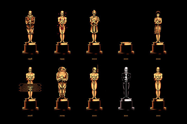 Image of Olly Moss's Academy Awards Poster Showcases 85 Years of Oscars