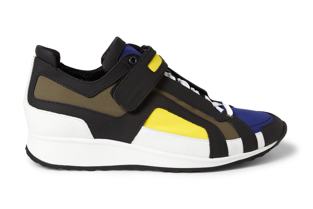 Image of Pierre Hardy Panelled Neoprene Sneakers