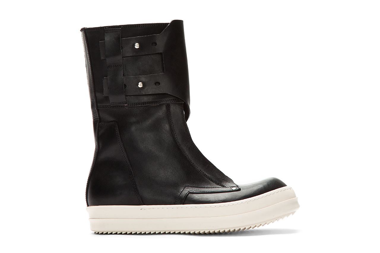 Image of Rick Owens Black Monk Strap Military Dunk Boots