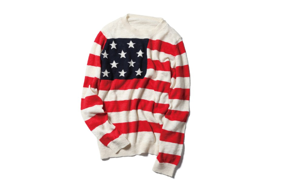 Image of SOPHNET. Stars & Stripes Crew Neck Knit