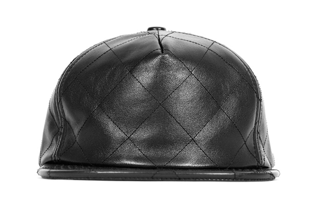 Image of Stampd Black Quilted Lambskin Snapback