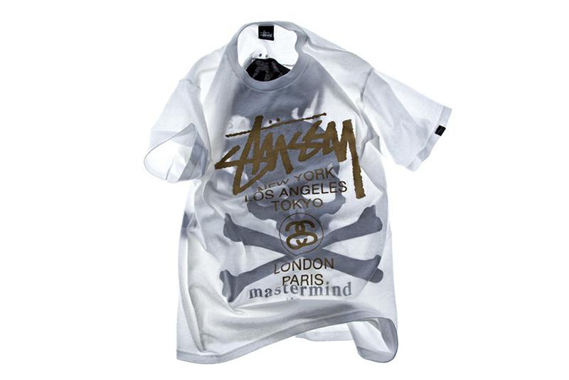 Image of Stussy x mastermind JAPAN Shadow Skull WT T-Shirt EYESCREAM Limited Edition