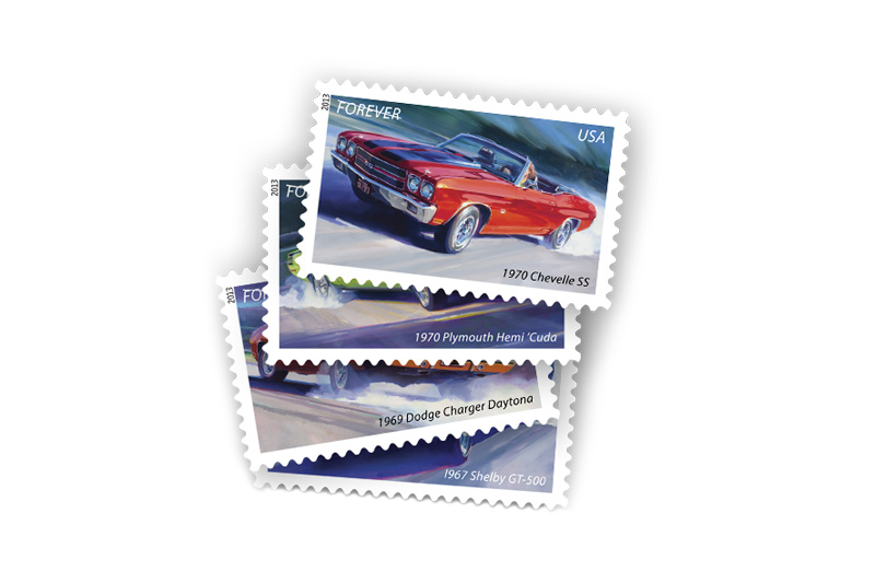 Image of USPS Unveils Official Muscle Cars Stamps