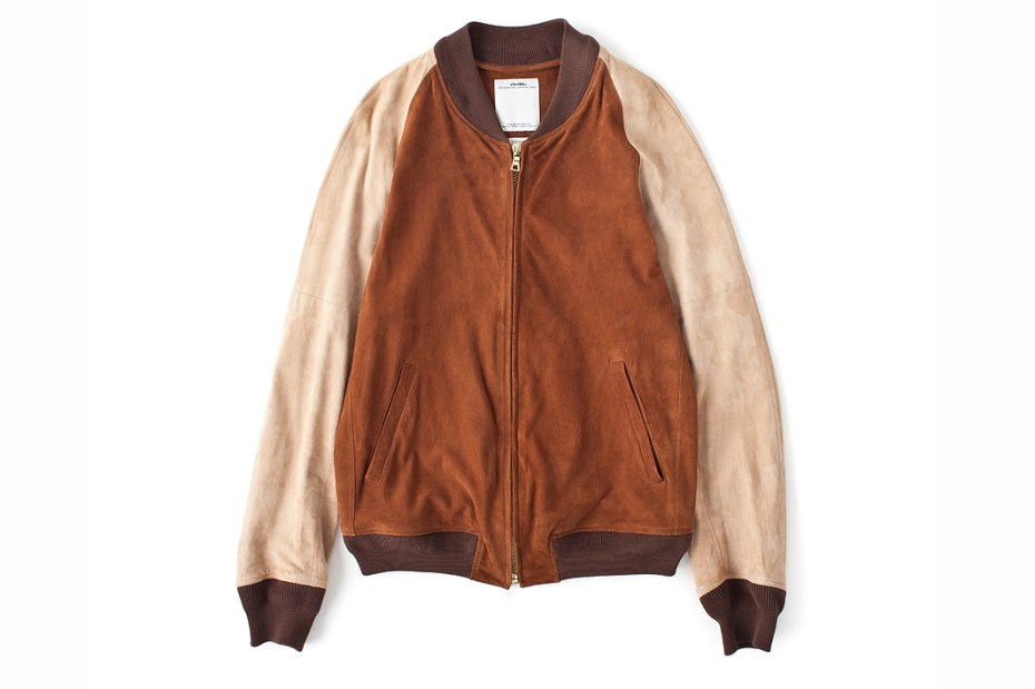 Image of visvim VARSITY JKT SUEDE IT *F.I.L. EXCLUSIVE