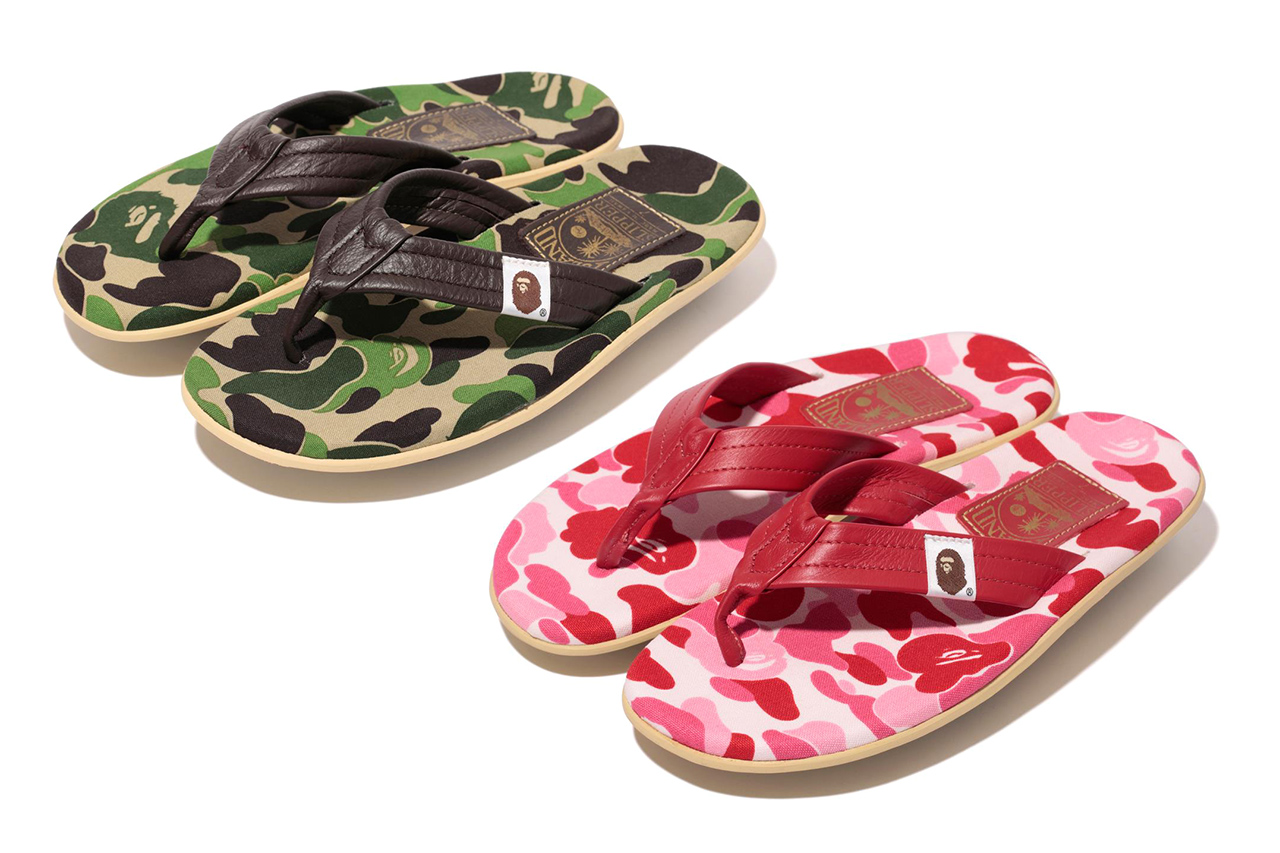 Image of A Bathing Ape x Island Slipper 2013 Spring/Summer ABC THONG