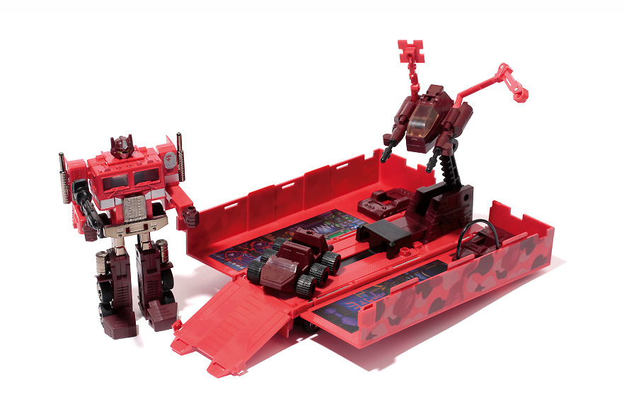 Image of A Bathing Ape x Transformers Convoy Red Camo Version