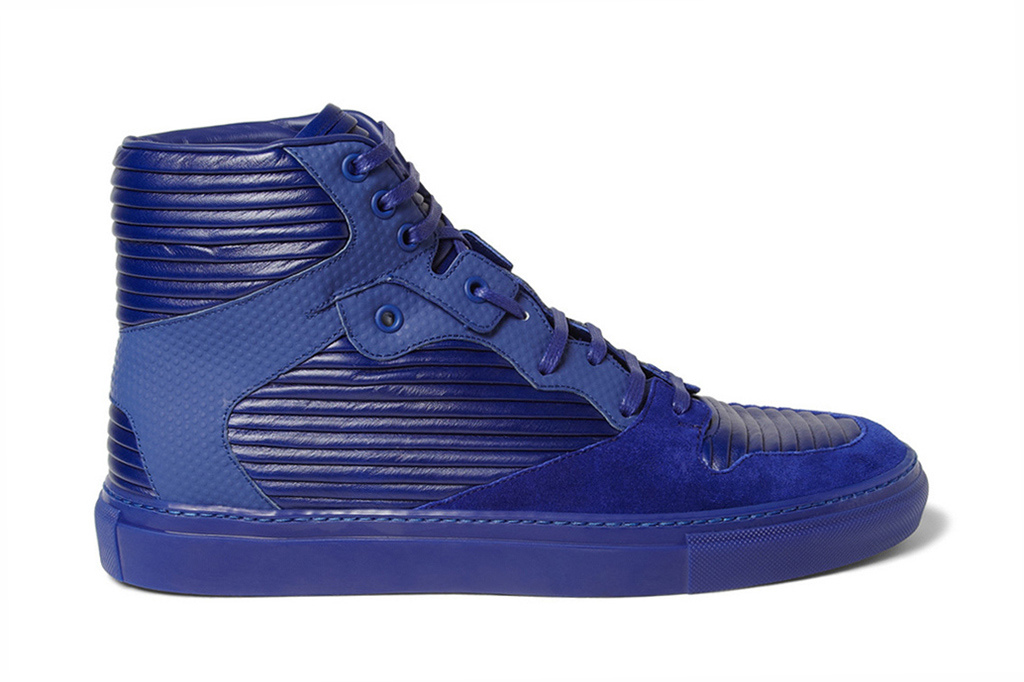 Image of Balenciaga 2013 Spring/Summer Panelled Leather and Suede High Top Sneakers