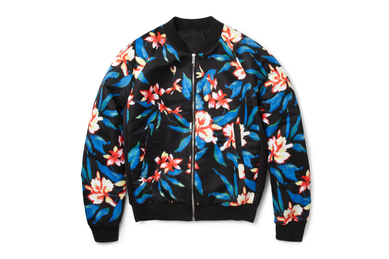 Image of Balenciaga Printed Satin Bomber Jacket