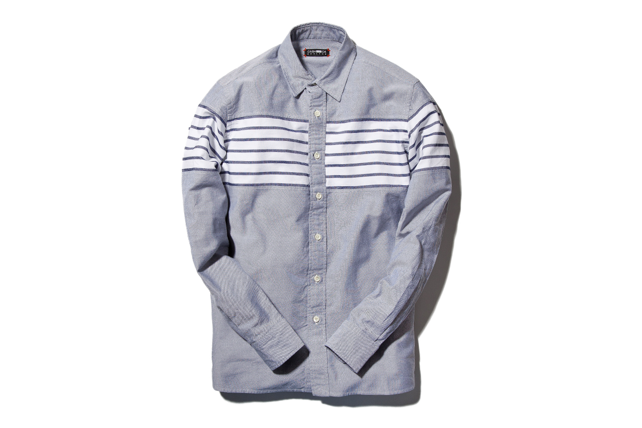 Image of CASH CA 2013 Spring/Summer Navy Chest Border Shirt