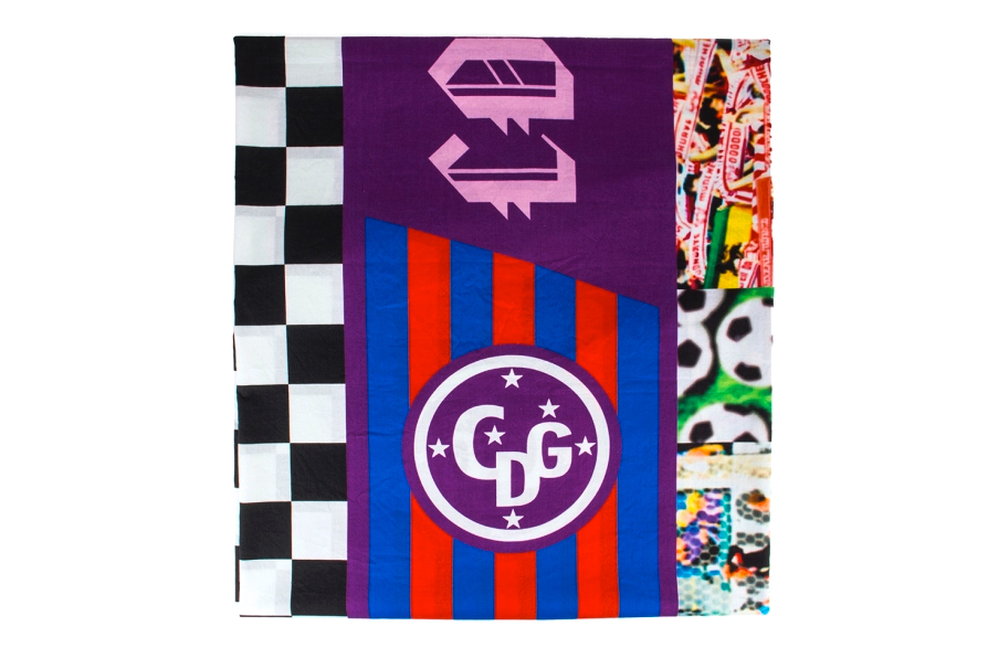 Image of COMME des GARCONS 2013 Spring/Summer Patchwork Soccer Flags Scarf