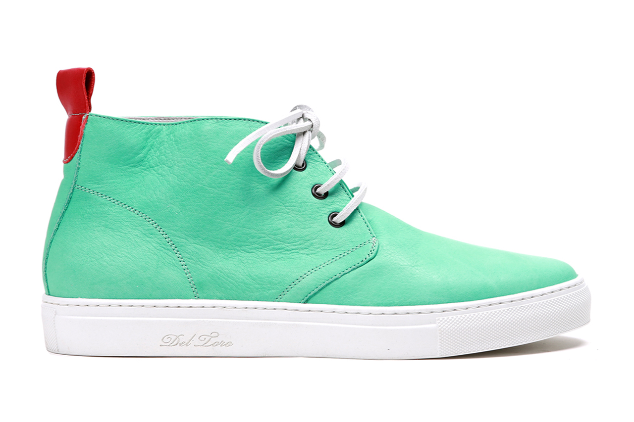 Image of Del Toro Sea Foam Nappa Leather Alto Chukka Sneaker