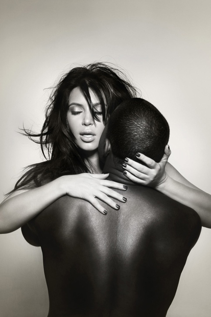 Image of Exclusive Portraits of Kanye and Kim for L'Officiel Homme