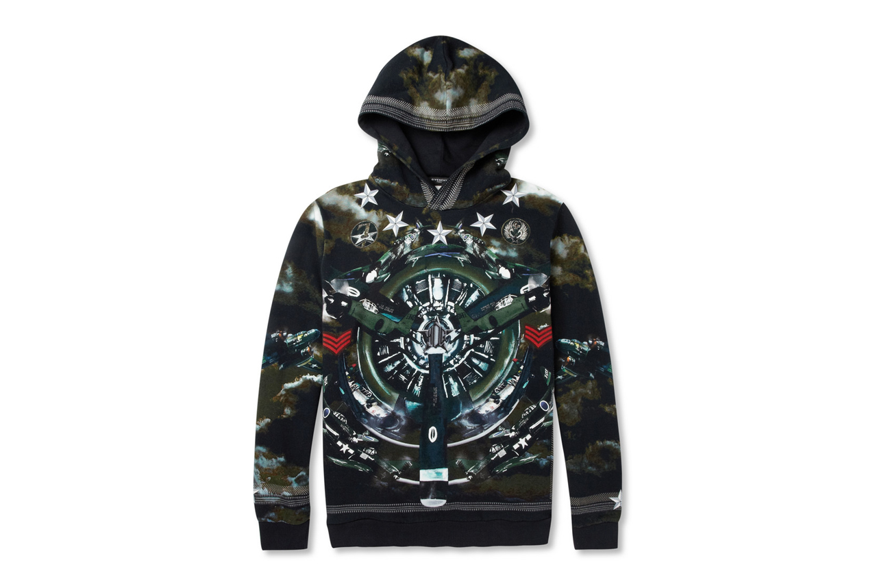 Image of Givenchy Airplane-Print Loopback Cotton-Jersey Hoodie