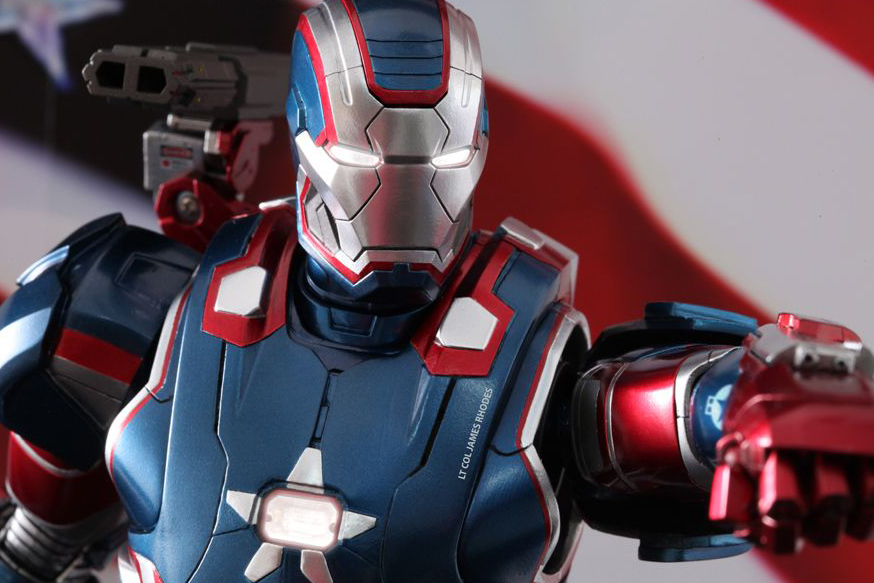 "Image of Hot Toys Iron Man 3 ""Iron Patriot"" Limited Edition Collectible Figure"