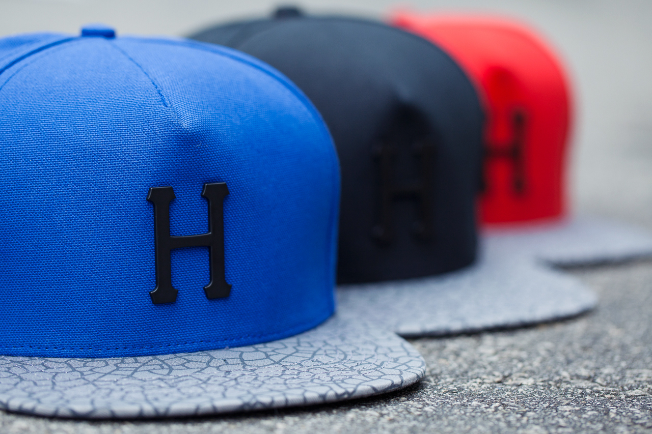 Image of HUF Metal H Quake Strapback Hats