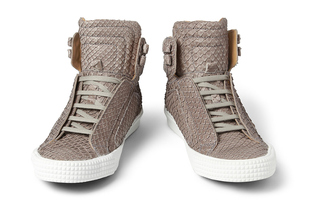 Image of Jimmy Choo Snakeskin-Effect High Tops