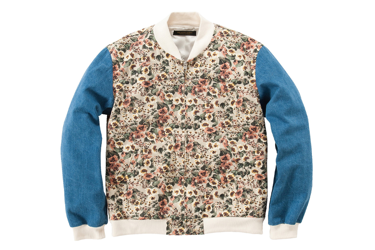 Image of Mr. GENTLEMAN 2013 Spring/Summer Floral Zip-Up Jacket