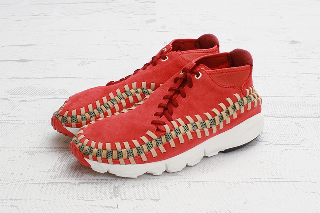 "Image of Nike Air Footscape Woven Chukka Knit ""Red Reef"""