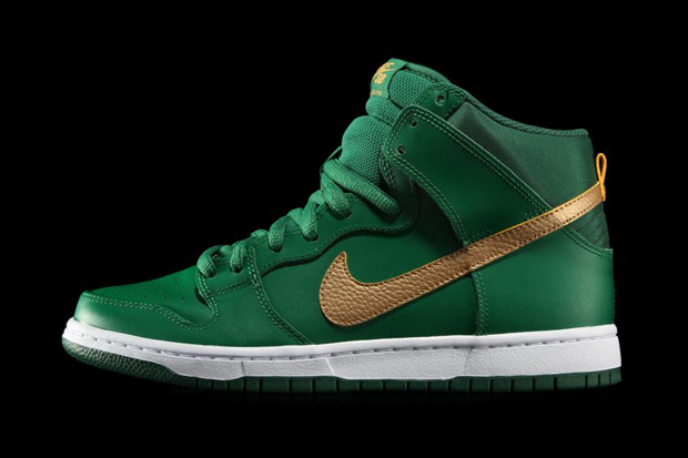 "Image of Nike SB 2013 Dunk High Pro ""St. Patrick's Day"""