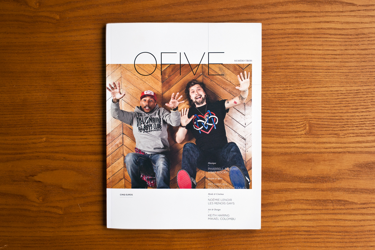 Image of O FIVE Magazine Issue 3 featuring Pharrell Williams & Pedro Winter