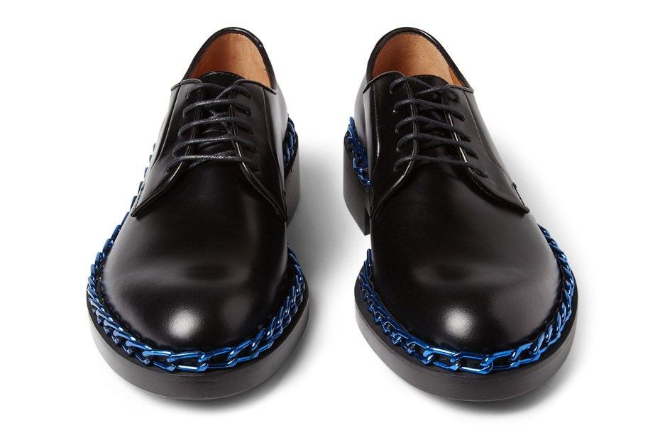 Image of Raf Simons Chain-Trimmed Derby Shoes
