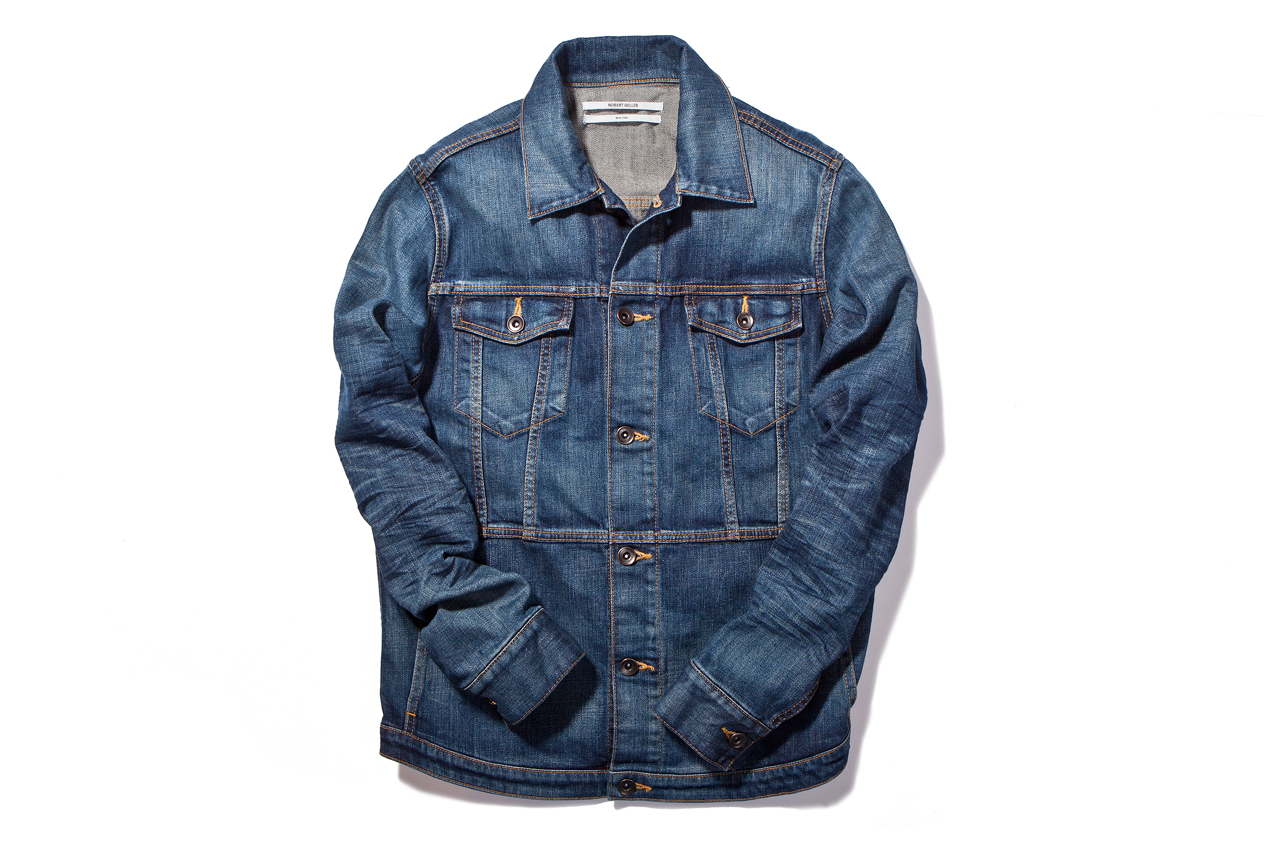 Image of Robert Geller Indigo Denim Trucker Jacket